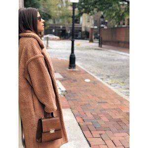 Jackets & Coats - 🆕Lorna Nude Tan Long Teddy Coat